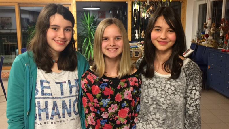 Lilly, Marie und Hannah