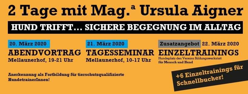 2 Tage mit Hundetrainerin Mag. Ursula Aigner