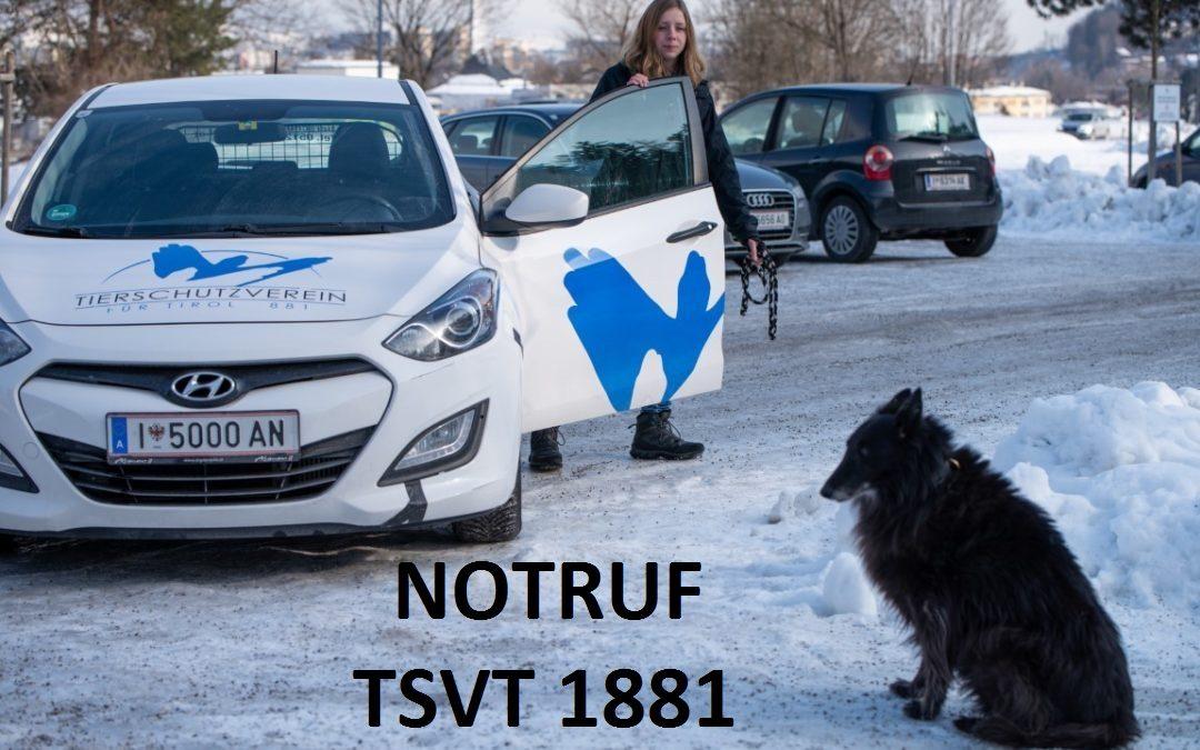 Änderung der Notruftelefone der Tierheime Mentlberg und Wörgl